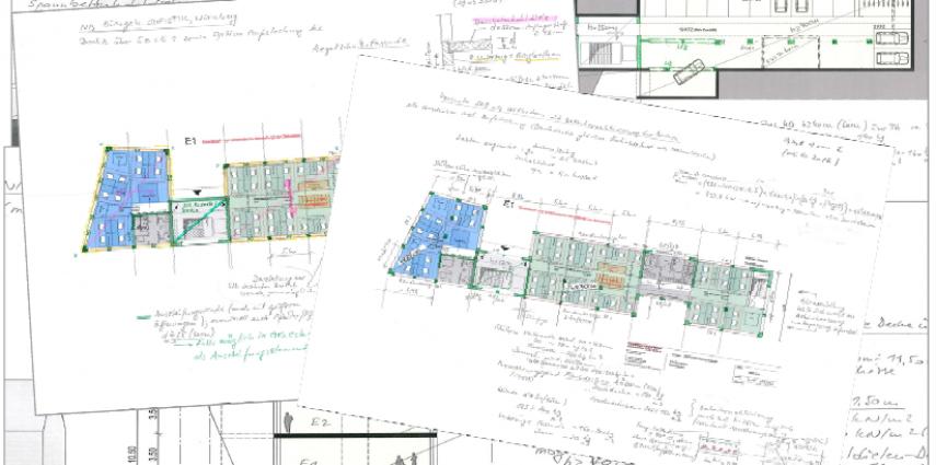 Architektenskizzen aus dem Workshop