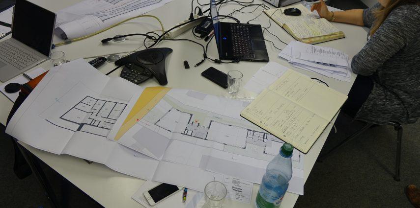 Baubesprechnung mit herkömmlichen Medien