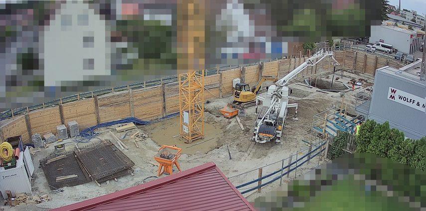 Betonierarbeiten am 29. Juli 2018